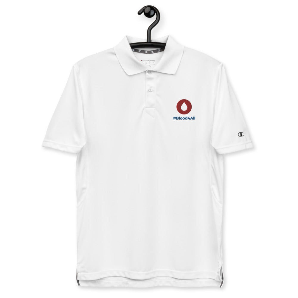 #Blood4All Men's Champion White Polo