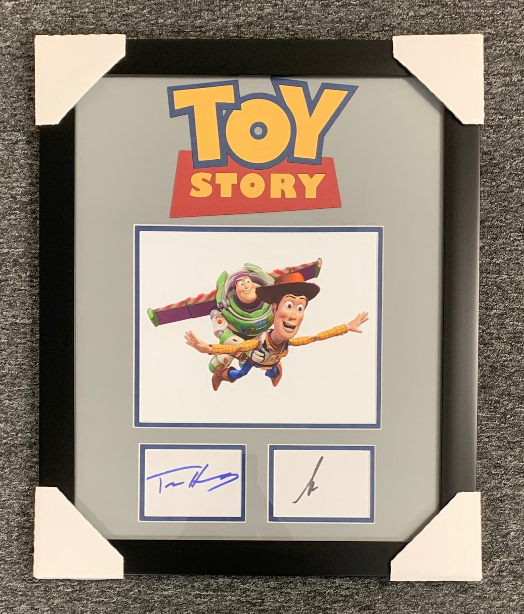 Toy Story Autographed Display Tim Allen Tom Hanks Framed