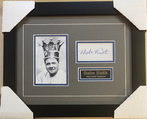 Babe Ruth Autographed Replica Display