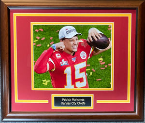 Patrick Mahomes Custom Chiefs Display
