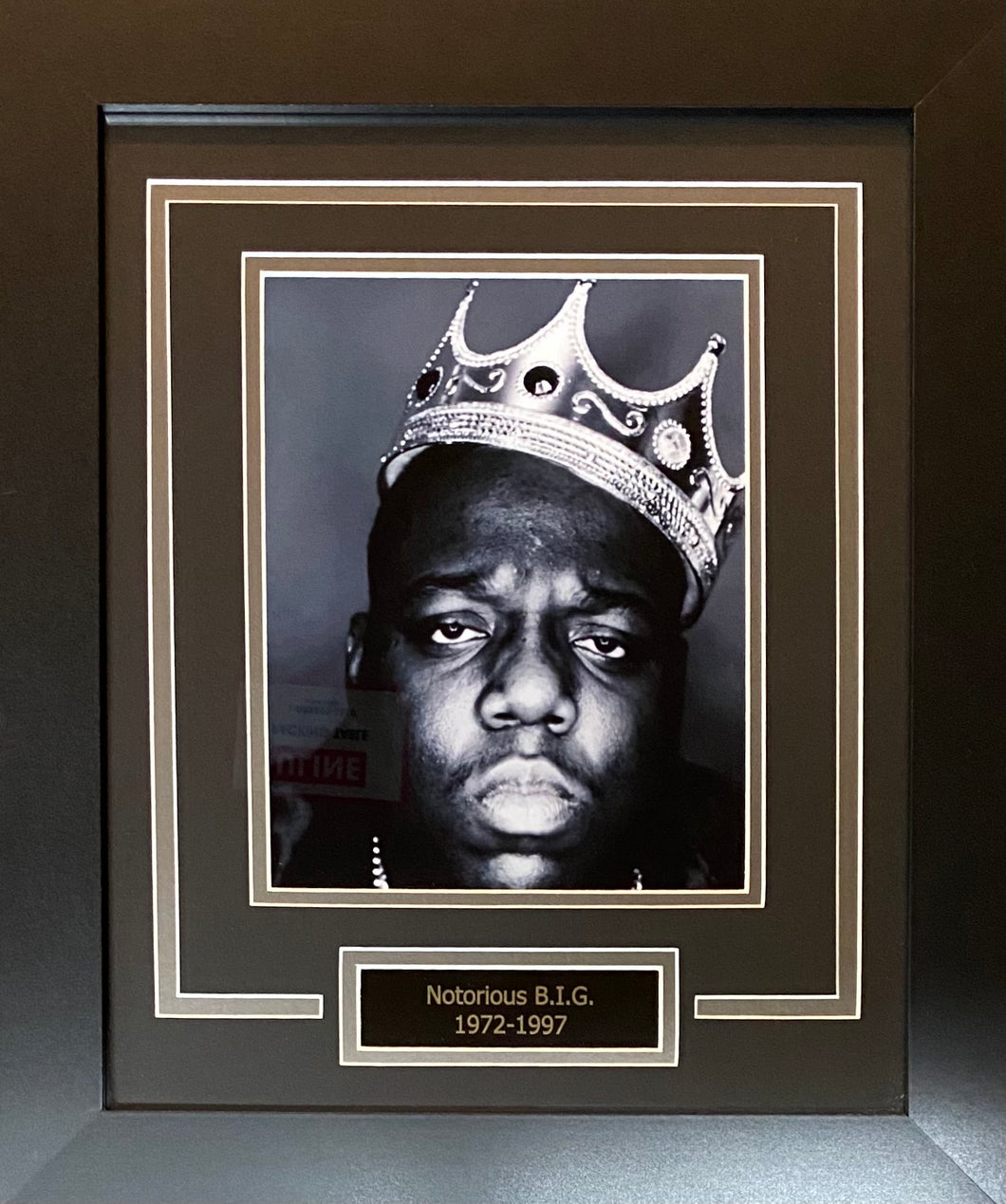 Notorious Big Display Custom Framed
