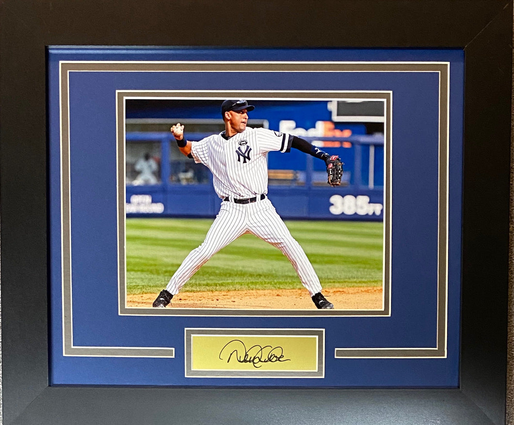 Derek Jeter Custom Framed Display RP Autograph Yankees