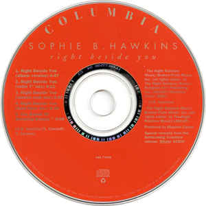 Sophie B. Hawkins ‎– Right Beside You - Pre-Owned CD