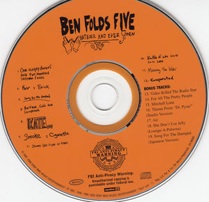 Ben Folds Five - Whatever And Ever Amen - Pre-Owned CD