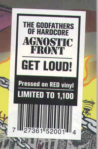 Agnostic Front ‎– Get Loud! - New Sealed Red Vinyl LP