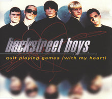 Load image into Gallery viewer, Backstreet Boys ‎– Quit Playing Games (With My Heart) - Pre-Owned CD