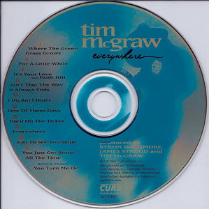 Tim McGraw ‎– Everywhere - Pre-Owned CD