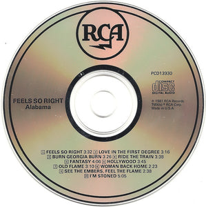 Alabama ‎– Feels So Right - Pre-Owned CD