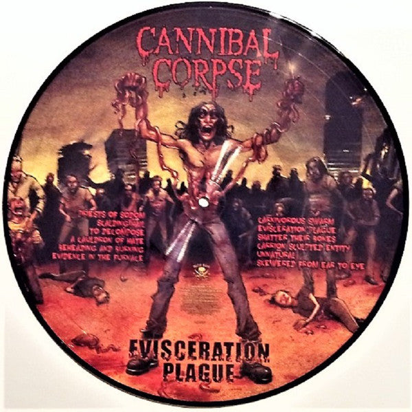 Cannibal Corpse - Evisceration Plague - New Sealed Vinyl LP - Picture Disc