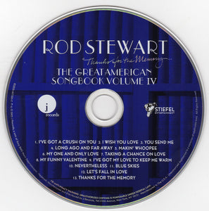 Rod Stewart ‎– Thanks For The Memory... The Great American Songbook Volume IV - Pre-Owned CD