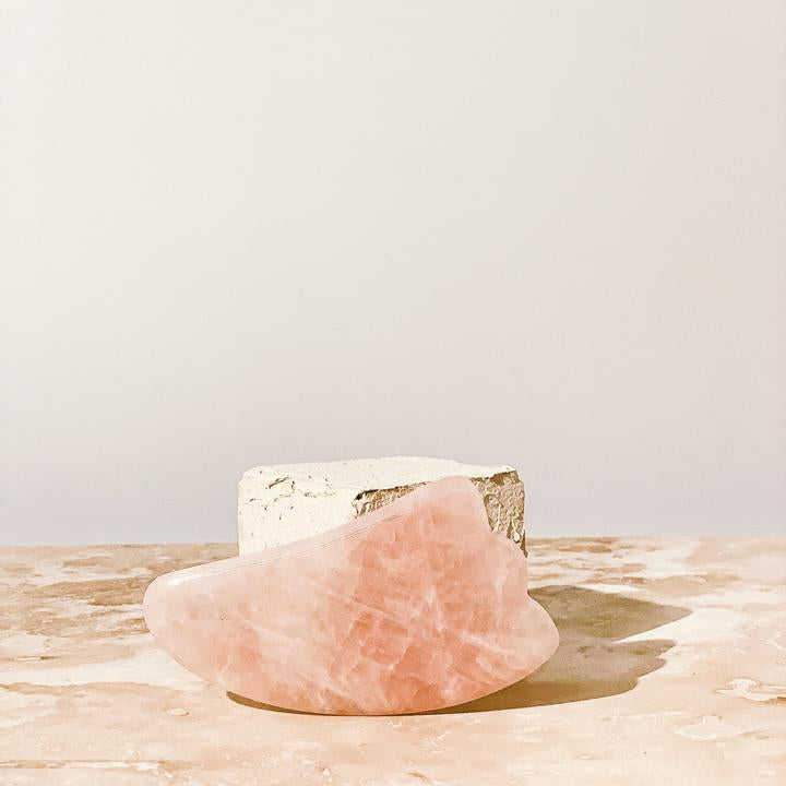 ROSE QUARTZ GUA SHA FACIAL SCULPTING BOARD