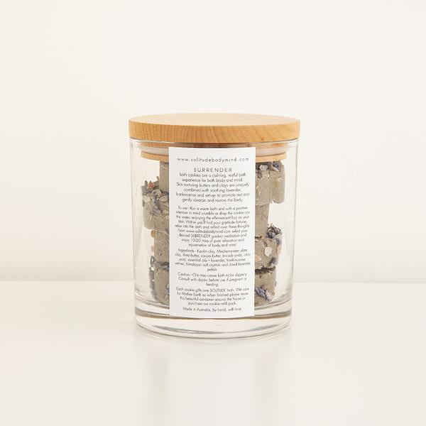 SURRENDER BATH COOKIE JAR - 4 COOKIES