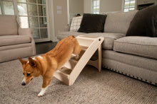 Load image into Gallery viewer, CozyUp™ Folding Pet Steps Tan Large