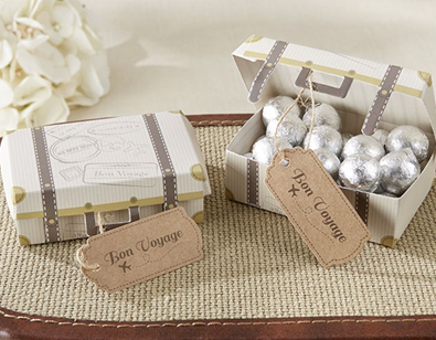 Wedding Favours - Chocolate Balls in mini suitcase