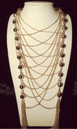 Load image into Gallery viewer, 'COCO' LONG LAYERED NECKLACE SET