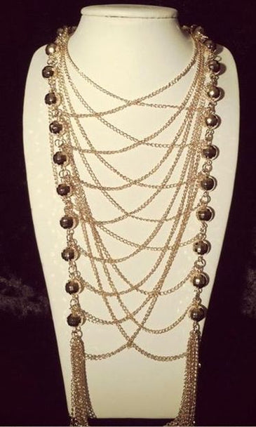 'COCO' LONG LAYERED NECKLACE SET