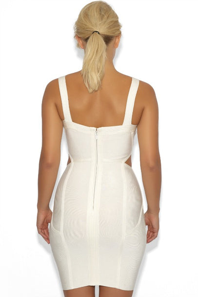 Off-White Cut Out Bandage Dress