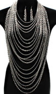 Load image into Gallery viewer, 'Kimora'  Multi Layered Body Chain  and Earring Set