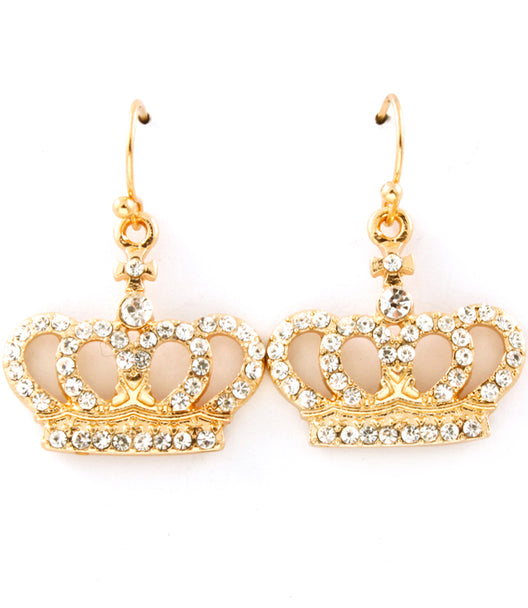 """CROWN"" CRYSTAL STUDS EARRINGS"