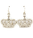 "Load image into Gallery viewer, ""CROWN"" CRYSTAL STUDS EARRINGS"