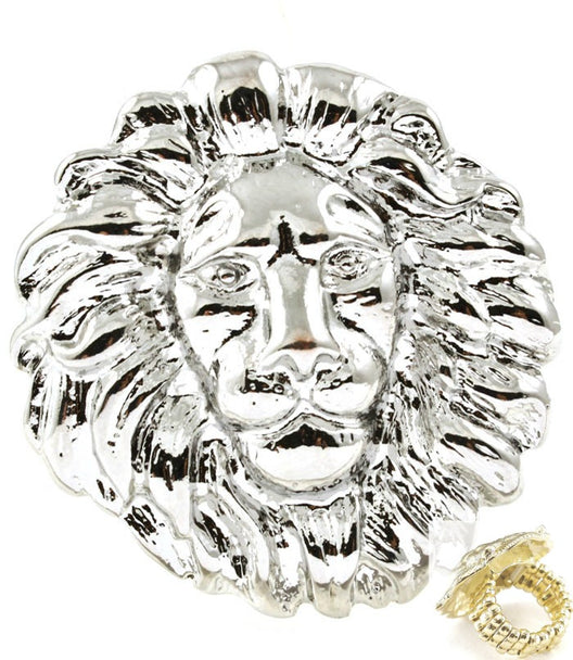 LIONHEAD STATEMENT  STRETCH RING