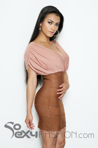 """KHLOE"" 2 - FER BODYCON BANDAGE DRESS"