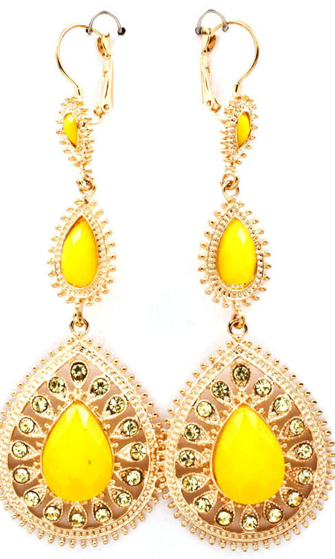 'Princess'   Crystal Couture Drop Earrings