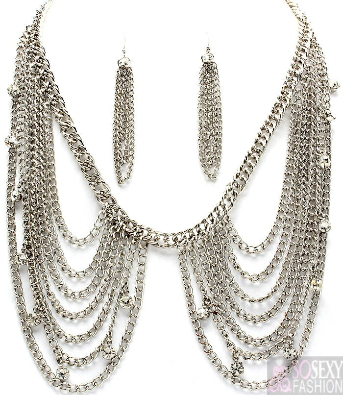 """Kimberley"" Necklace and Earring Set"