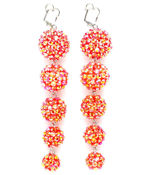 BasketBall Wives Fireball Crystal Studs Earring