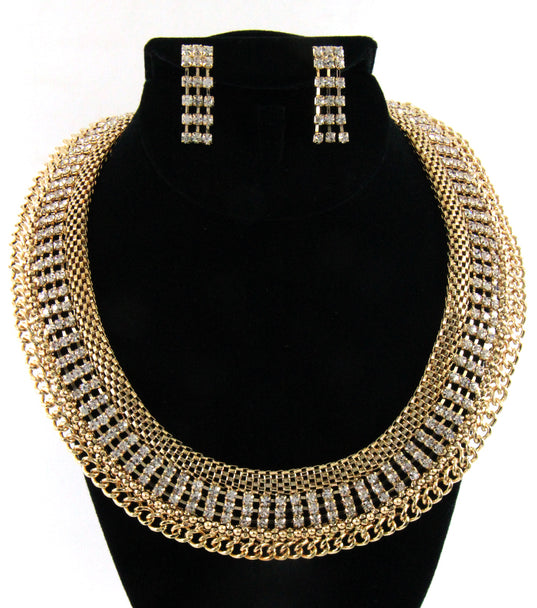 """RICH GIRL""  NECKLACE AND EARRING SET"