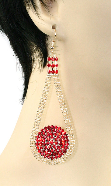 CRYSTAL MESH DROP EARRINGS