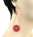 Load image into Gallery viewer, CRYSTAL MESH DROP EARRINGS