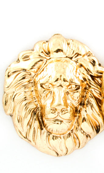 """AMI"" LION HEAD POST EARRING"
