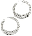 "Load image into Gallery viewer, ""RICH"" Curb Chain HOOP EARRINGS"