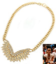 "Load image into Gallery viewer, ""RIHANNA""  ANGEL WING CRYSTAL NECKLACE"