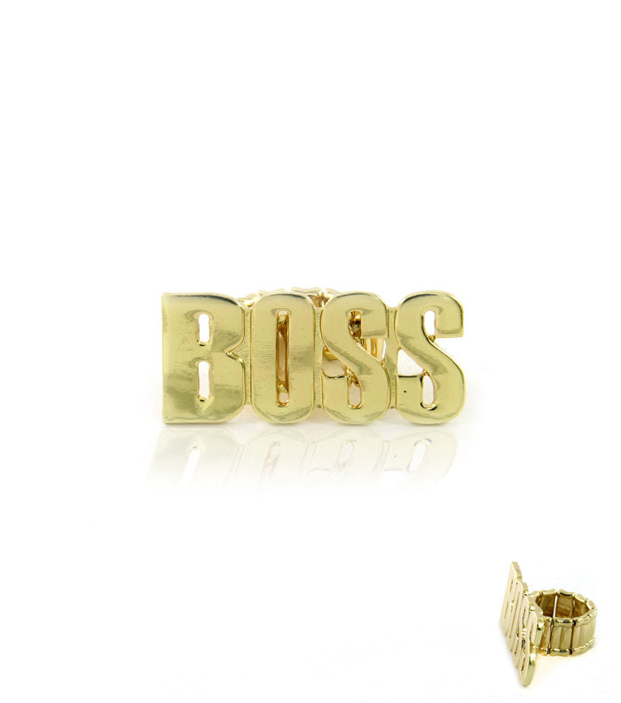 BOSS Stretchable Gold Ring