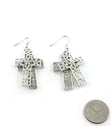 "Load image into Gallery viewer, ""Kourtney""  Crystal Fish Hook Cross Earring"