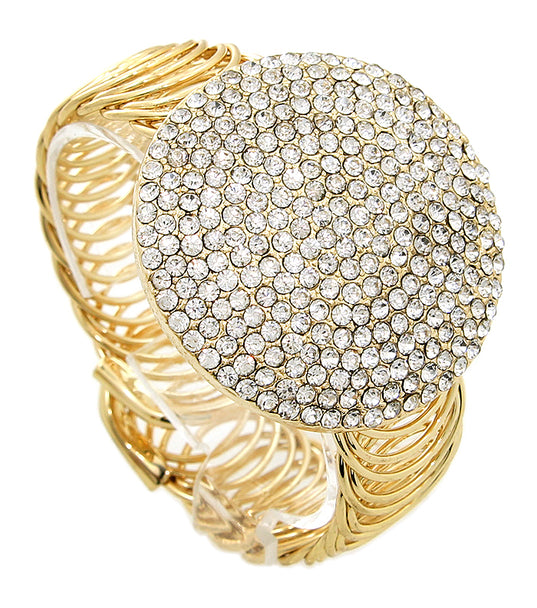 Round Statement Crystal  Bracelet