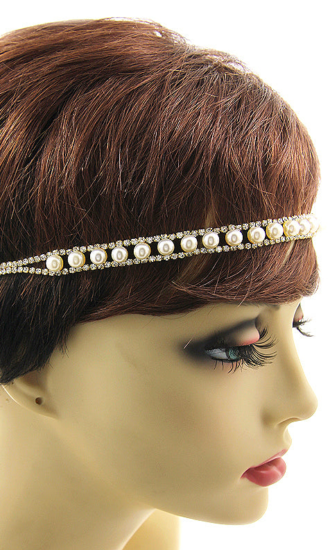 Pearl And Crystal Stretch Headband