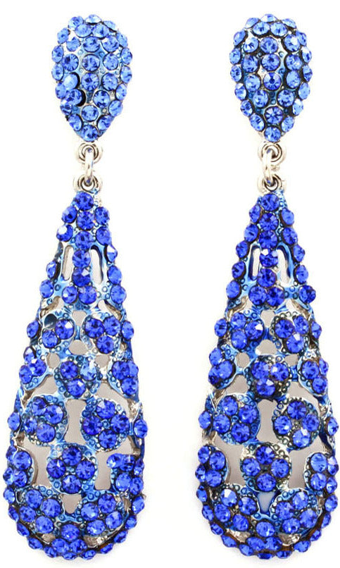 BasketBall Wives  Crystal Studs Earring - Blue