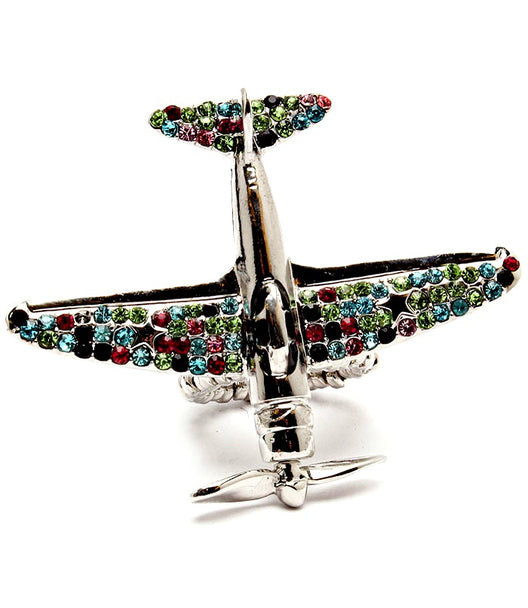 """Airplane"" Stretch Crystal Studs Ring"