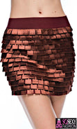 "Load image into Gallery viewer, ""Kylie Minogue""  Tiered Square Cut Mini Skirt"