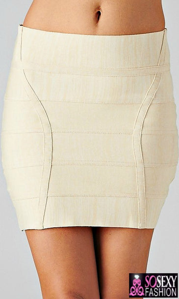 """RIRI"" Fitted Bandage Mini Skirt"