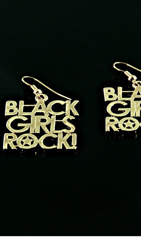 BLACK GIRLS ROCK FISH HOOK EARRING
