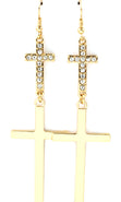"Load image into Gallery viewer, ""ADINA""  CRYSTAL CROSS EARRINGS"