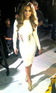 Load image into Gallery viewer, Long Sleeve Embellished Bandage Dress White