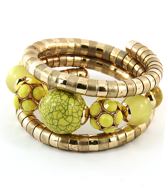 'Cassie' Chunky Stone Bangle