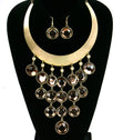 Load image into Gallery viewer, 'GEMMA'  BIB NECKLACE  AND EARRING SET