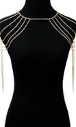 Load image into Gallery viewer, 'CLEOPATRA' LAYERED Shoulder Body Chain