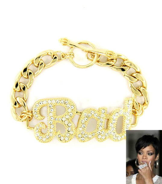 'RIRI' CRYSTAL BAD STATEMENT BRACELET